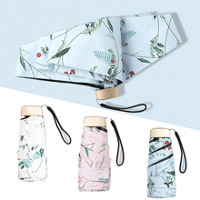 5 Folding Pocket Mini Umbrella Anti UV Parasol Umbrellas For Women Rain Sunny Outdoor Sun Waterproof Girls Travel Kid Female