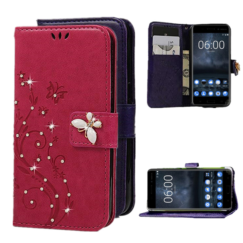 Clothing, Shoes & Accessories Forceful For Nokia Lumia 950 830 730 535 650 640 Xl 550 630 530 Luxury Business Glitter Wallet Card Pocket Bling Leather Flip Case Cover We Take Customers As Our Gods