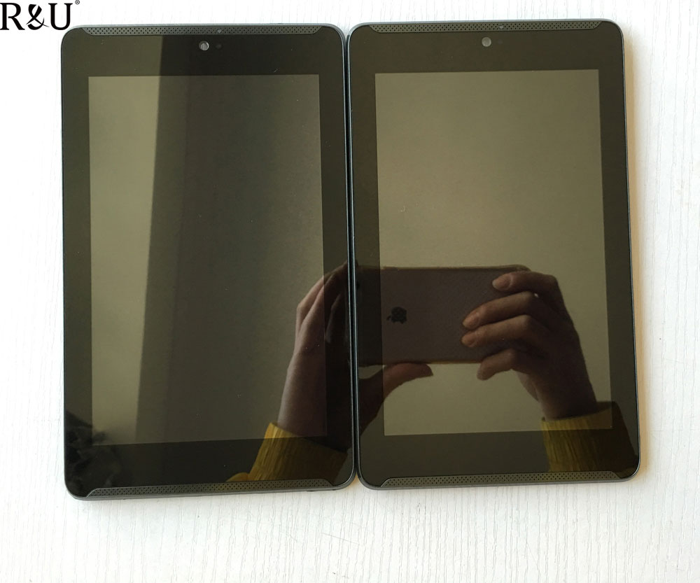R&U Used parts lcd screen display & touch screen digitizer assembly with frame For Asus Fonepad 7 LTE ME372CG ME372 KOOE K00E