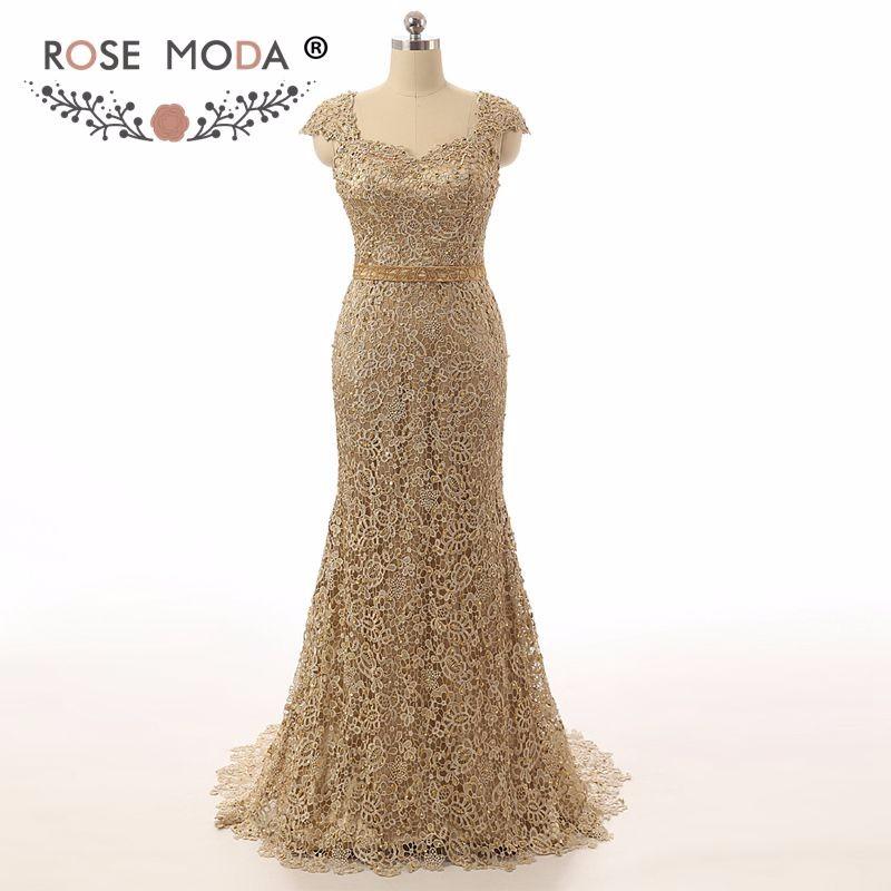gold mob dress