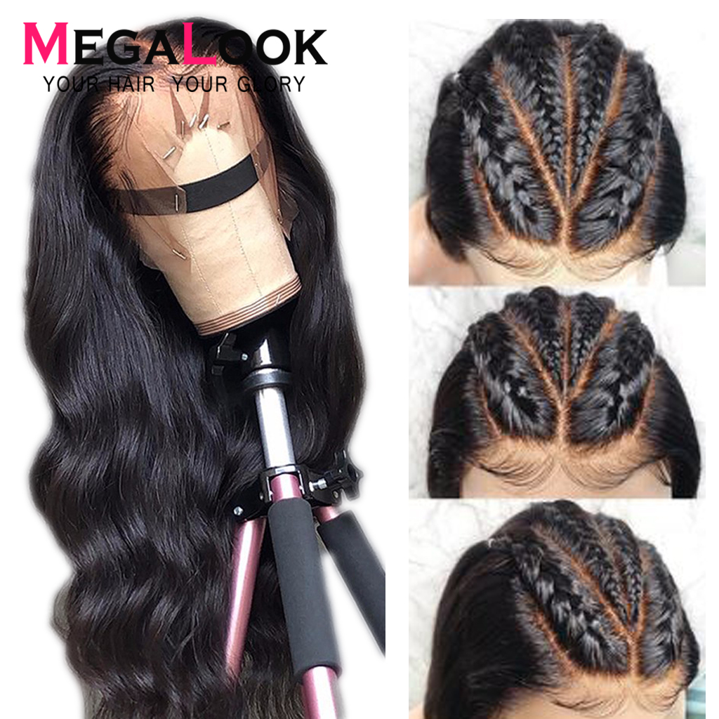 1b 360 Lace Body Wave Wig Lace Front Human Hair Wig Brazilian Wigs With Lace Frontal Pre Plucked Lace Front Megalook Hair Remy