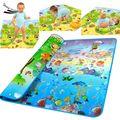 Новый Стиль Doulble-сайта Ребенка Играть Мат 2*1.8 Океан И Зоопарк для Детей На Открытом Воздухе Игры Одеяло Ребенка Ползать мат 34
