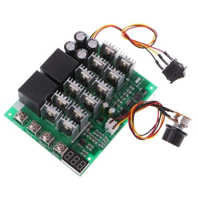 Controlador de velocidad del Motor, DC 10 55V 12V 24V 36V 48V 55V 100A PWM HHO RC interruptor de Control inverso con pantalla LED