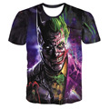Hot BATMAN vs JOKER 3D Print T-shirt Unisex Short Sleeve Kid Casual Suicide Squad Fans Cloth High Quality Men The Killing Joke