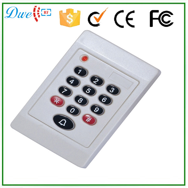 125khz WG26 Bits Pin Key Board Contactless White Card Reader With Door Bell Function