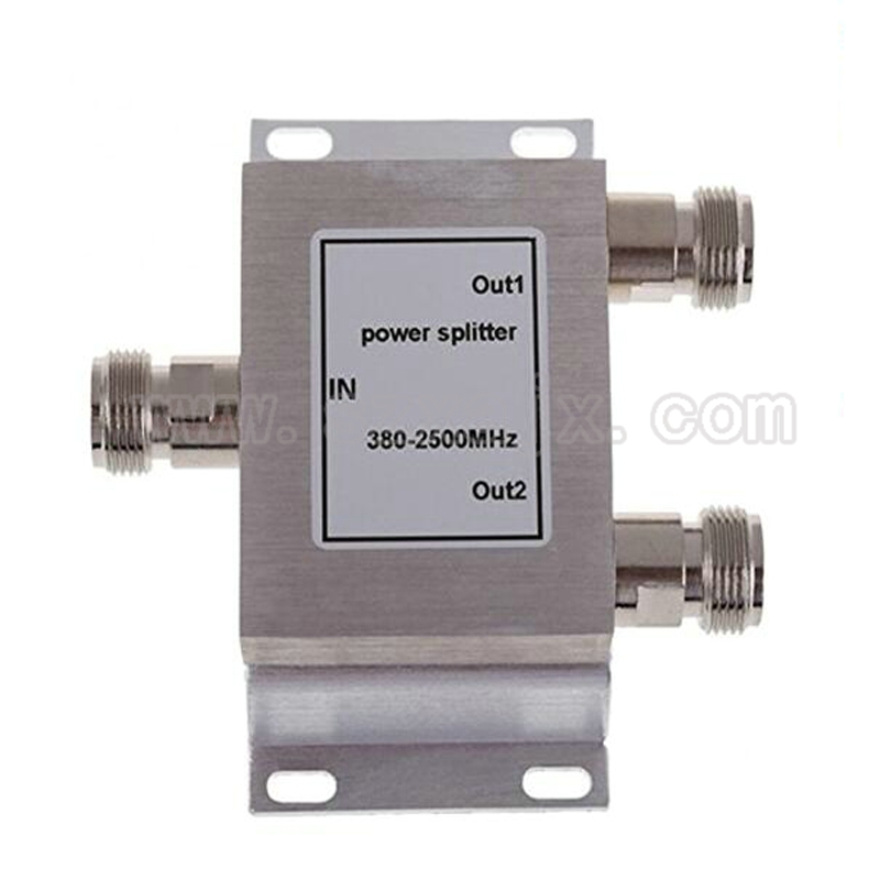 RF Coaxial Splitter 1 to 2 Way Power Splitter 380-2500MHz Signal Booster Divider N female 50ohm Free shipping hertz uno x 130 2 way coaxial