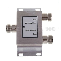 RF Coaxial Splitter 1 To 2 Way Power Splitter 800 2500MHz Signal Booster Divider N Female