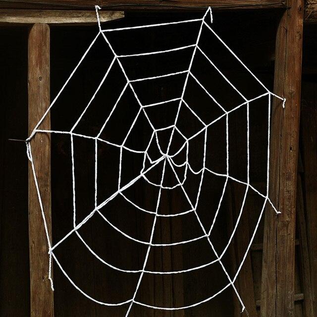 Halloween Horrible Big Black Furry Fake Spider 50cm 90cm Spiderweb
