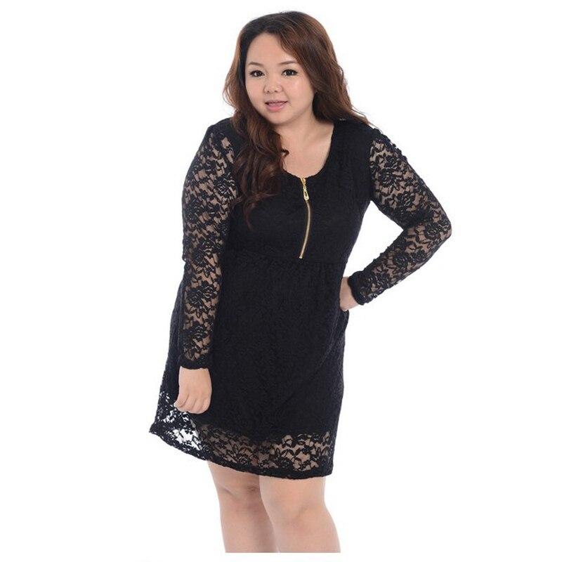 Plus Size 3Xl 4Xl Women Dress Sexy Ladies Casual Black -1006