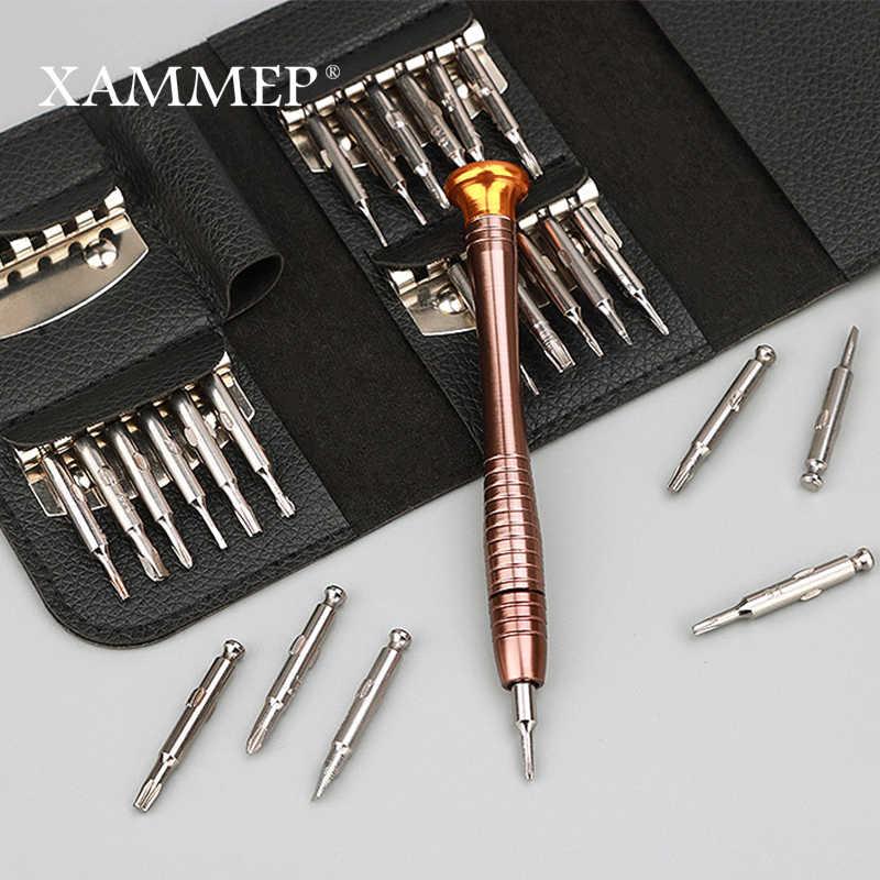 Reparatie Tool Kits Met Zakken Opslag 25 In 1 Voor Reparatie Bril Familie Handgereedschap Platte Cross Trox Schroevendraaier Xammep