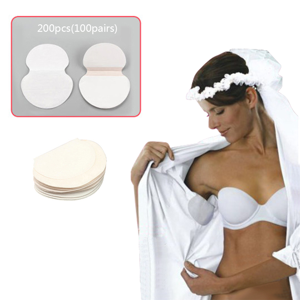 200PCS 100 Packs Summer Armpit Sweat Pads For Clothing Disposable Underarm Deodorants Sweat Armpit Absorbent Perspiration Pads