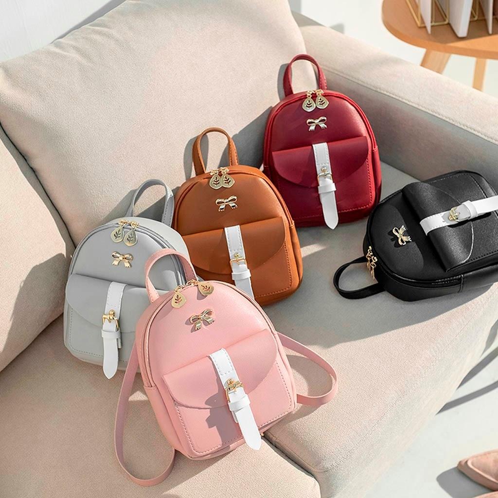 HTB1kL4HNmzqK1RjSZPcq6zTepXae Convenient fashion Travel Fashion Lady Shoulders Small Backpack Letter Purse Mobile Phone mochilas Canta