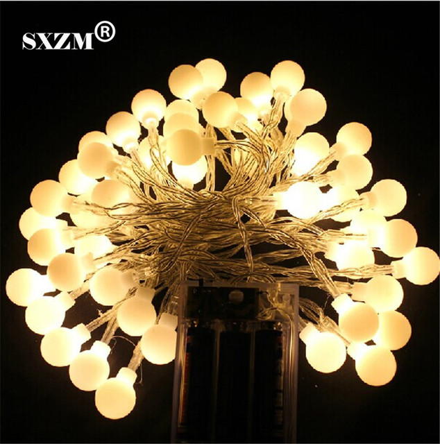 SXZM Battery Led String Light 5M 50led 3pcsAA Battery Operate Led Light  Outdoor Decoration Light Home