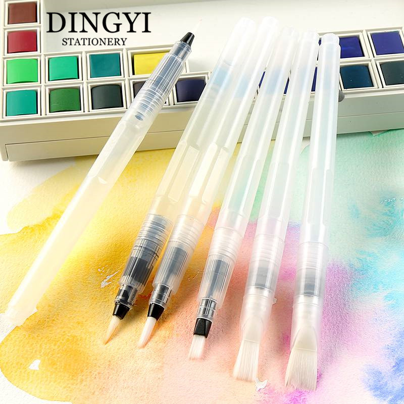 DINGYI Professional Water Pen Coloring Soft Artistic Brush For Drawing Watercolor Painting Calligraphy Pen Set Art Supplies