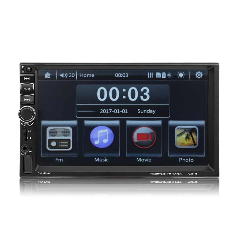 7 インチ Bluetooth タッチスクリーン車のラジオ AUX USB TF MP5 android 携帯ミラーリングとリアカメラステアリングホイールコントロール