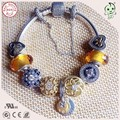 Fashionable And Popular Top Quality Shining  Gold Charm Series Famous Brand 925 Pure Silver Charm Bracelet