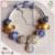 Moda E Popular de Qualidade Superior Brilhante Ouro Série Charme Famosa Marca 925 Pure Silver Charm Bracelet