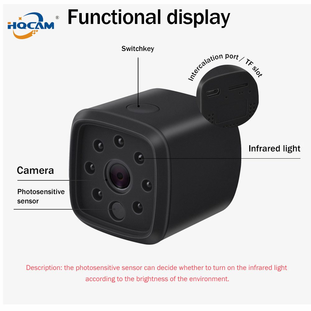 HQCAM 720P Wireless IP Camera built in battery Smart WiFi Camera WI FI Surveillance Security Baby