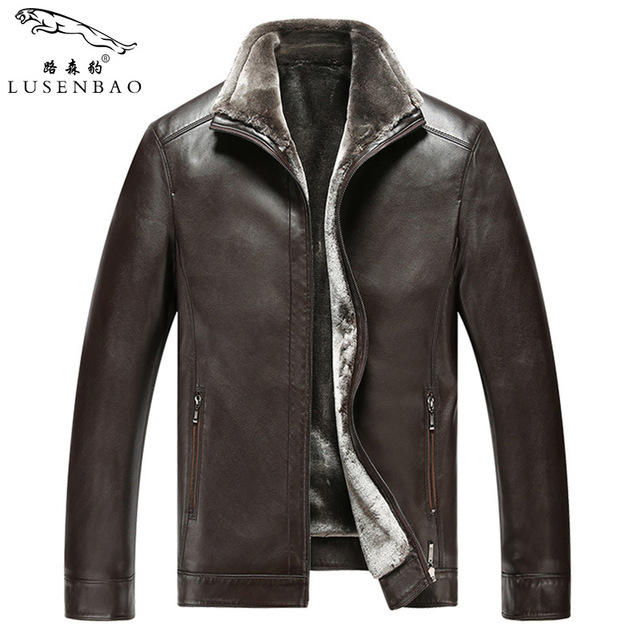 Motorcycle Jacket Men Men' Leather Jacket And Coat 2016 Winter Casual Fashion Faux Leather Jackets Zipper Fur Clothing Overcoat