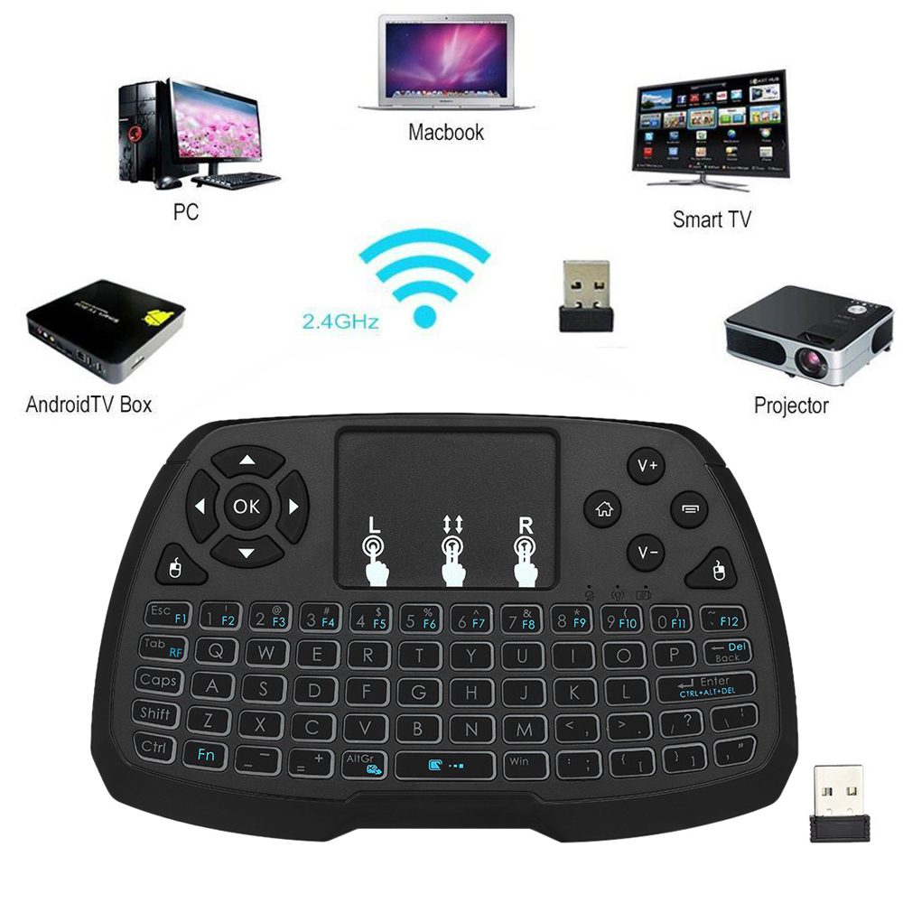 купить 2.4GHz Wireless Keyboard Touchpad Mouse Handheld Remote Control for Android TV BOX Smart TV PC Notebook онлайн