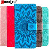 WoodLysi PU Leather Phone Case For MOTO C E4 Plus Sunflower Emboss Flip Leather Case for MOTO C E4 Plus With Stand Card slot