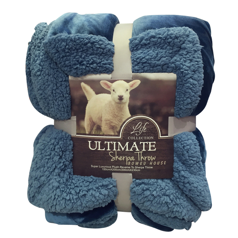 Sheep and velvet Blanket winter lamb cashmere thickened double  is  warm cotton lamb fleece blanket 115 115cm 100% cashmere double face blankets nordic style