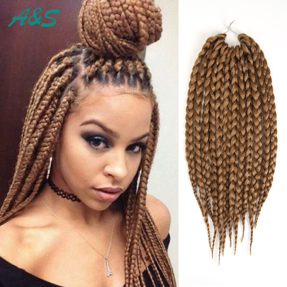 Top crochet braids synthetic weave extension box braids