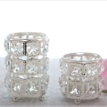 High-grade Crystal Wedding Candlestick Props Exquisite Bar Romantic Small Gift Home Decoration Ornaments