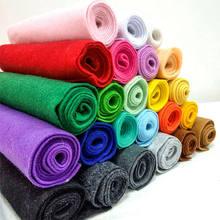 Miękka tkanina z filcu nie-tkany filc tkaniny arkusz Patchwork DIY szycie lalek akcesoria rzemieślnicze materiał 1.4mm grubości