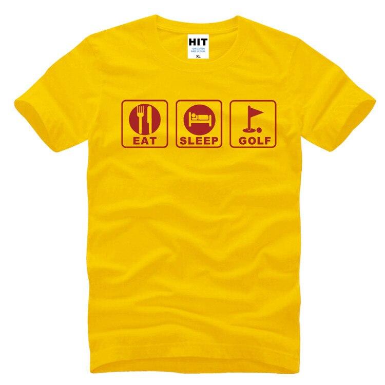 Eat Sleep Golf Humor Funny Printed Mens Men T Shirt Tshirt 2016 New Short Sleeve O Neck Casual T-shirt Tee Camisetas Hombre