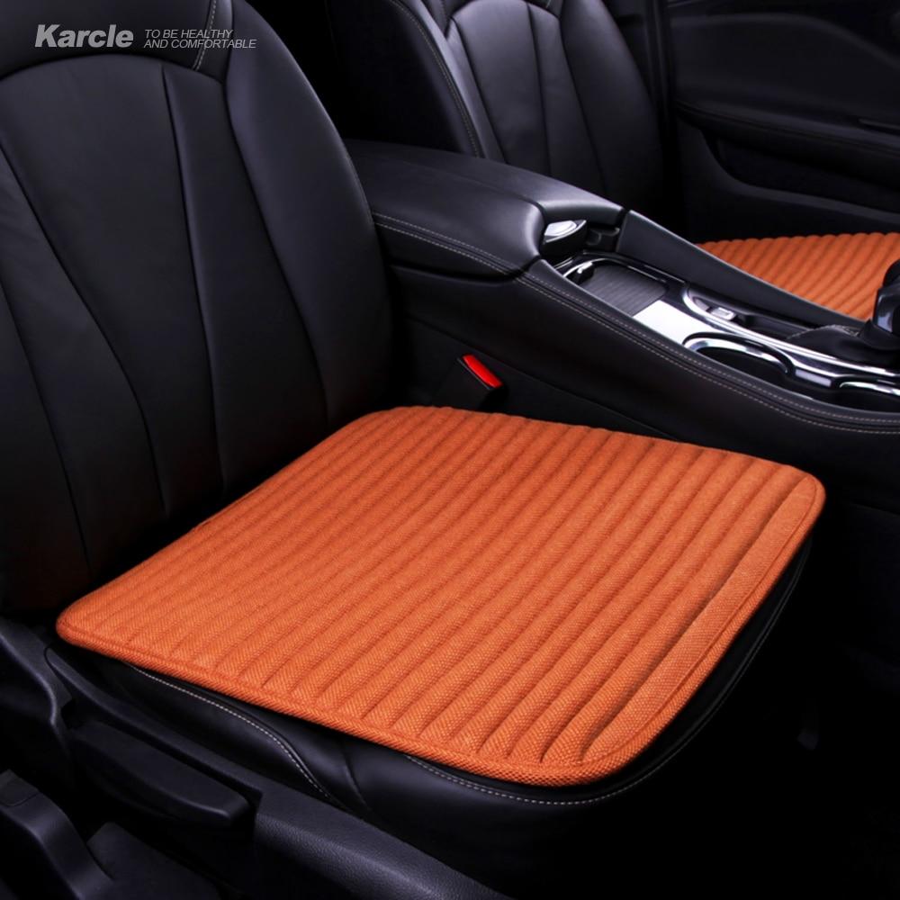 Karcle 1 STÜCKE Natürliche Buchweizen Autositzbezüge Gesunde Antibakterielle Dirving Kissen Pad Protector 4 Jahreszeiten Durable Zubehör