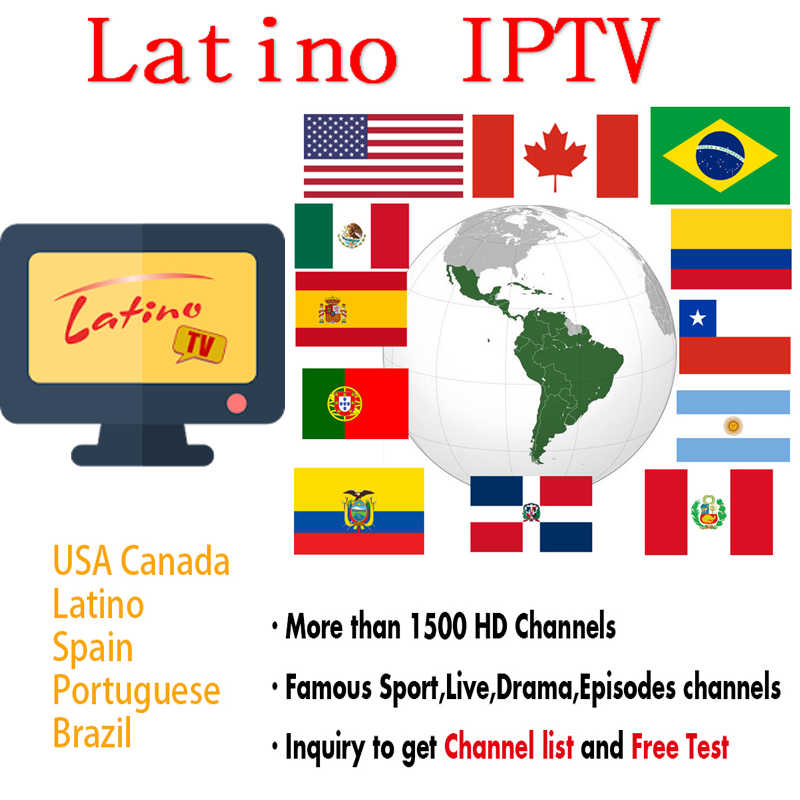 iptv Brasil Subscription 6000+ Channels iptv 4K Chile Latino