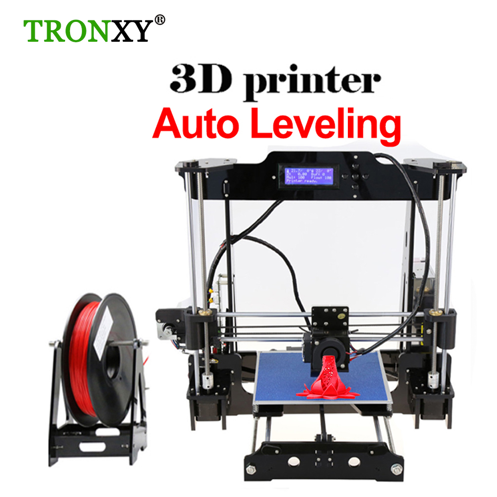 Auto Level &Normal P802MA Reprap Prusa I3 DIY 3D Printer Kit High-precision Three-dimensional 3D Printing LCD Screen 8GB SD Card anet a8 a6 3d printer high precision three dimension printing lcd screen reprap prusa i3 diy 3d printer kit filament 8g sd card