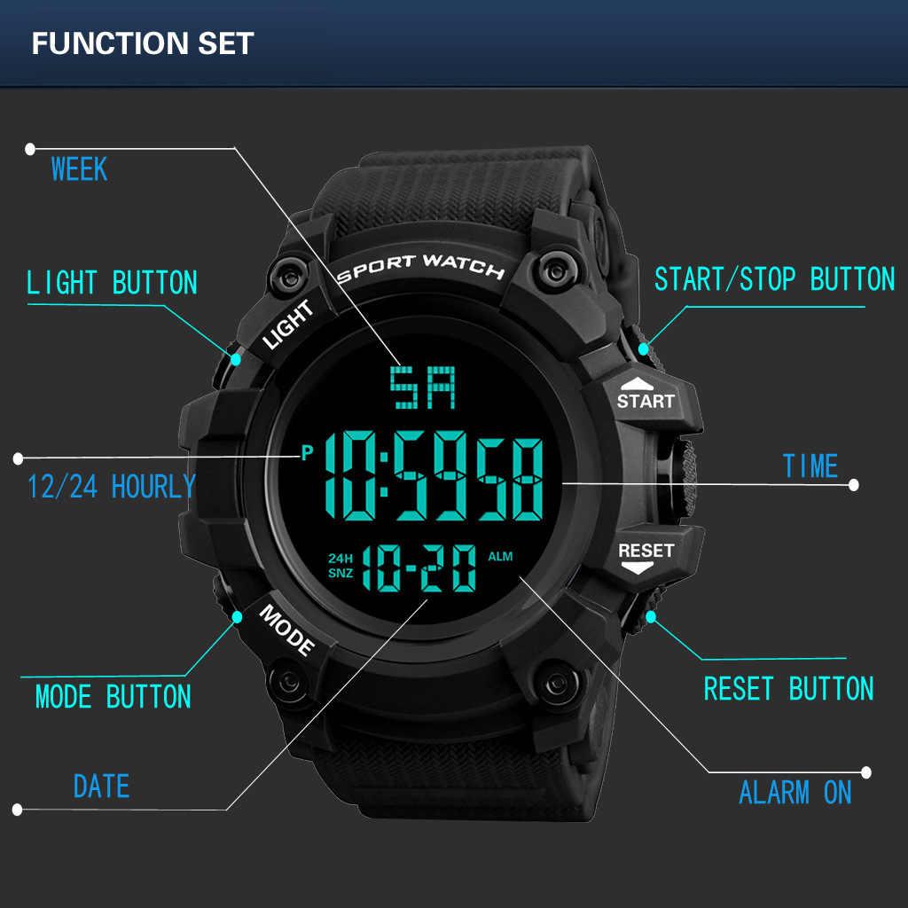 Novos Homens da Moda Relógio Digital Resistente À Água Esporte Back Light Sports Correndo Relógios de Alarme Cronômetro Relógio de Pulso Ocasional