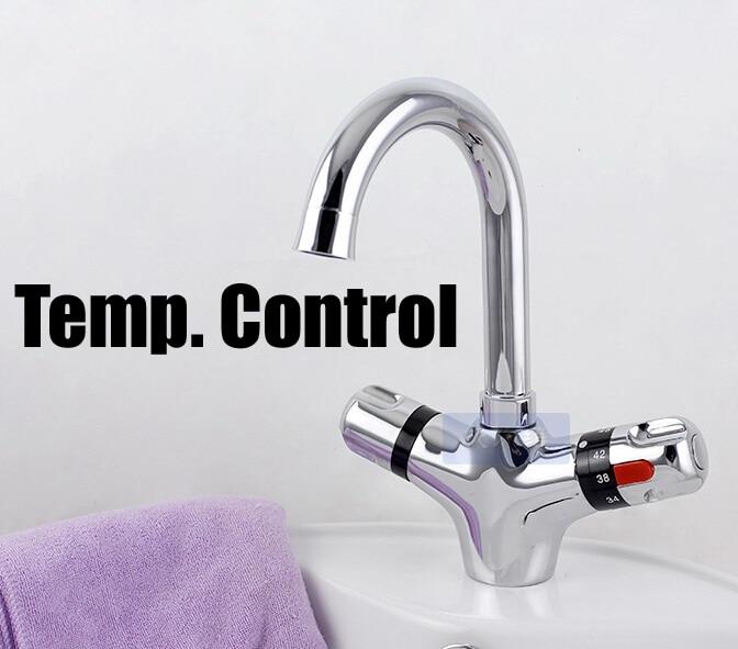thermostatic temp. control bathroom kitchen mixer faucet thermostatic control bathroom