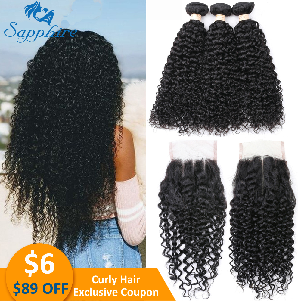 Afro Kinky Curly Bundles With Closure Remy Brazilian Human Hair Bundles With Closure Brazilian Hair Weave