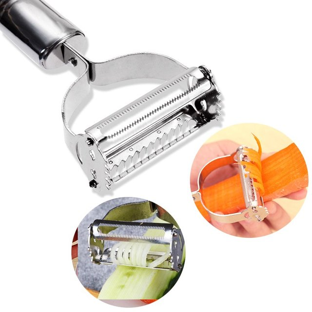 High Quality Stainless Steel Potato Cucumber Carrot Grater Julienne Peeler Vegetables Fruit Double Planing Tools 2