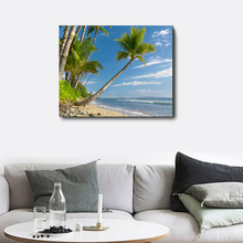 Laeacco Painting Calligraphy Canvas Tree Tropical Palm Wall Artwork Beach Posters and Prints Living Room Nordic Home Decoration