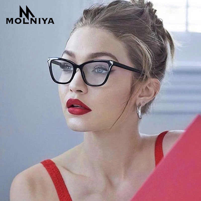MOLNIYA 2019 Transparent Women Eyeglasses Frames Fashion Square Cat Eye  Glasses Frame Women Brand Design Trendy Lunettes Vintage