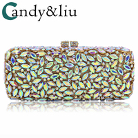 2018 European and American fashion diamond encrusted dinner bag high end foreign trade full rhinestone party bag evening bag
