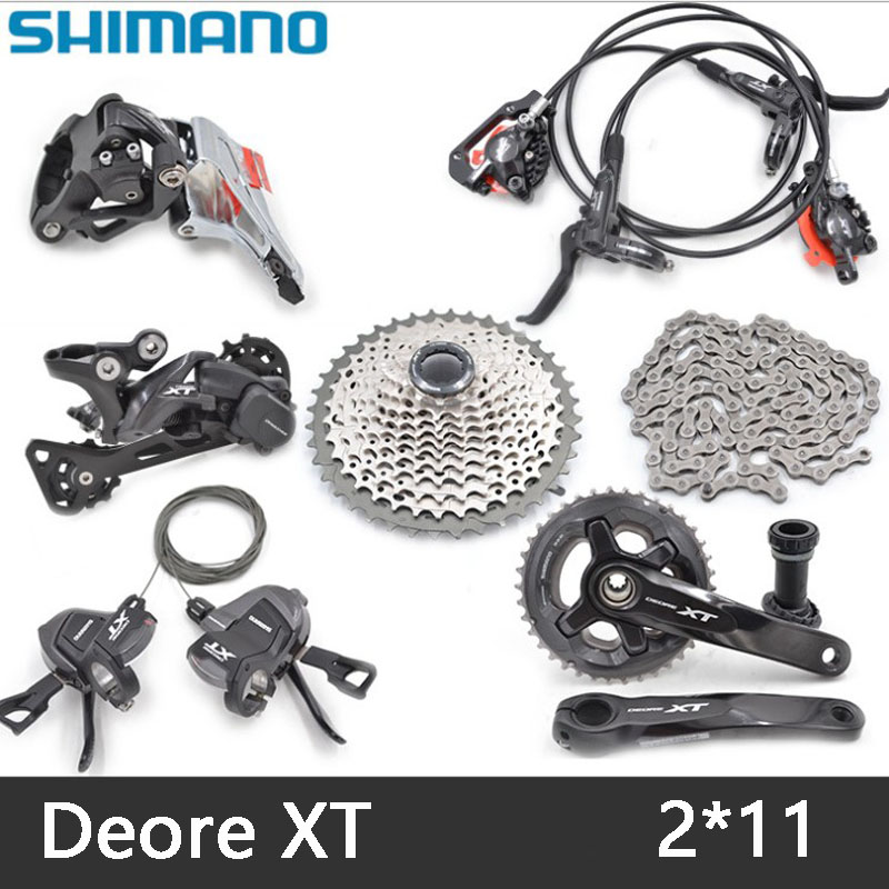 SHIMANO XT M8000 Mountain bike shift drive kit crankshaft sprocket 2X11 22 speed bicycle parts derailleur kit free delivery