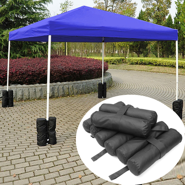 4pcs Waterproof Portable Sandbags Anchor Marquee Leg Weight Sand Bags Tent Canopy Max 6kg Stand