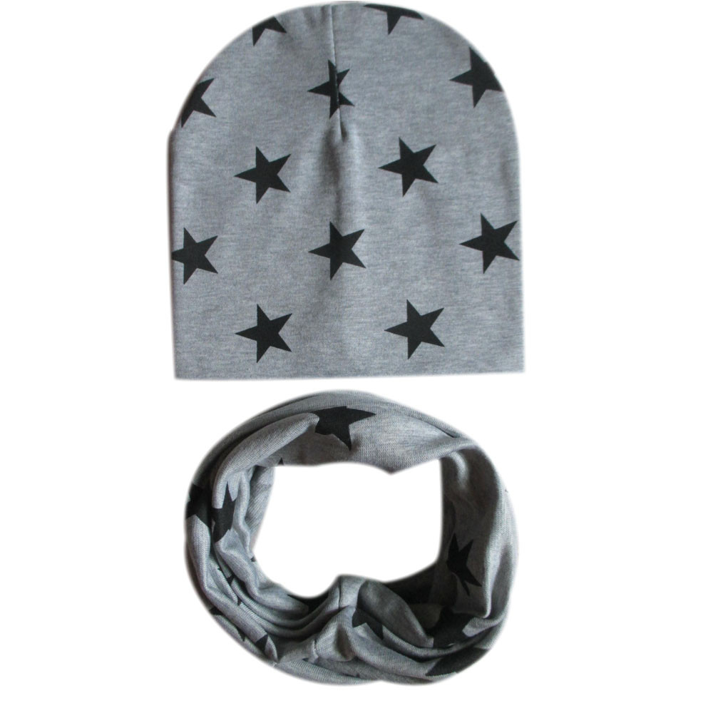 MUQGEW childs hat Star set cap and scarf cotton colorful newborn photography accessories newborn photo props baby muts