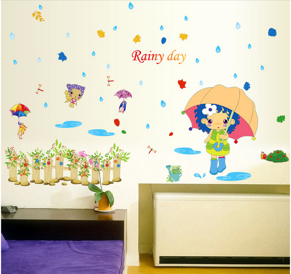 The Theme Of Childhood Nostalgia Home Decoration Wall Stickers ...
