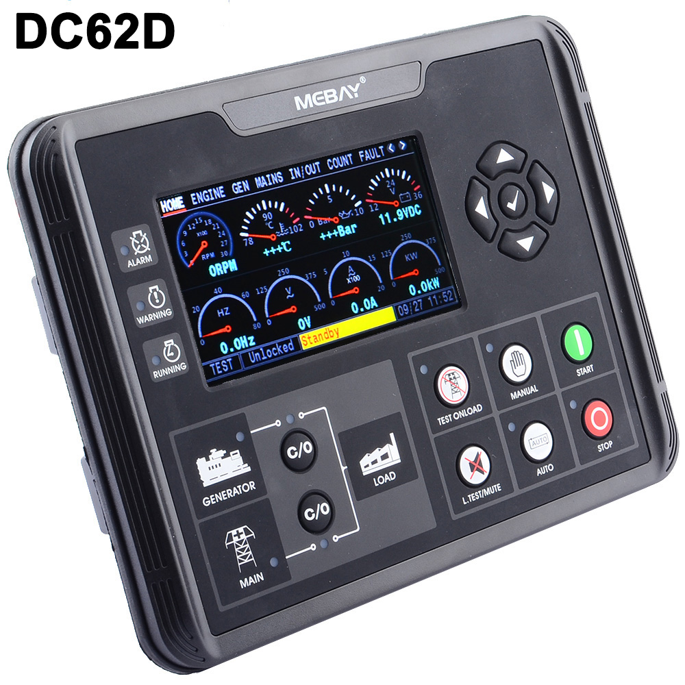 DC60D DC62D Generator Set Controller for Diesel Gasoline Gas Genset Parameters Monitoring With 4 3 LCD