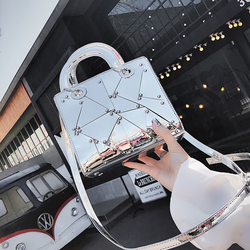 British Fashion Female bag 2018 Summer Fashion New Handbag Tote bag High quality PU Leather Women bag Mirror Handle Shoulder Bag