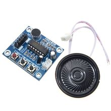 цена на ISD1820 Audio Sound Voice Module Recording Playback For Mic Microphone Acces Board