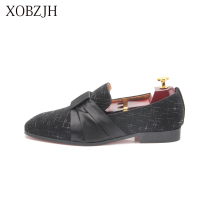 XOBZJH Fashion Business Dress Men Shoes 2019 New Classic Leather MenS Suits Wedding Party Slip On Work Big Size