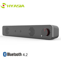 HYASIA PC Bluetooth Speaker Computer LED Light Notebook Speaker Subwoofer PC Soundbar Bluetooth 4.2 Connectable Wired Headset