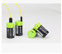 купить Cncool 4pcs 1.5v Lithium li-polymer 3000mAh C size rechargeable battery USB C type Li-ion powerful battery + USB charging cable дешево